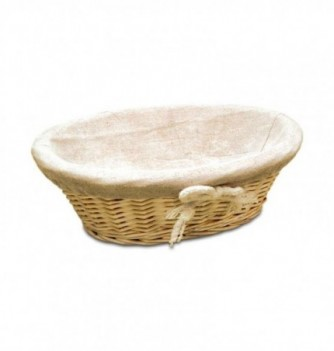 Basket oval with canvas 230x170xh85mm
