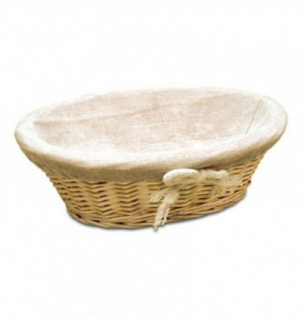 Basket oval with canvas 280x210xh90mm