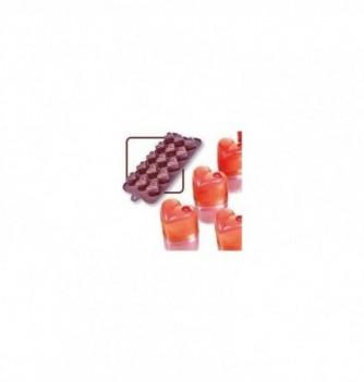 Silicone mold choco decoflex hearts