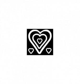 Moule Silicone Sucre Coulé Coeur pour Support 5pcs