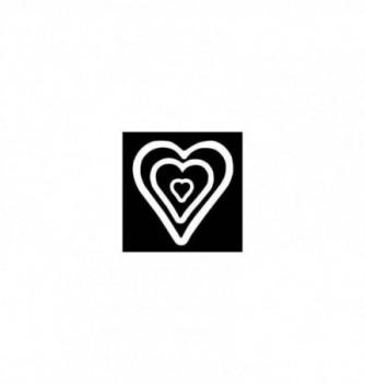 Moule Silicone Sucre Coulé Coeur Stylisé pour Support 3pcs