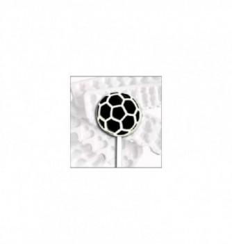 Silicone mold lollipops 10 soccer balls