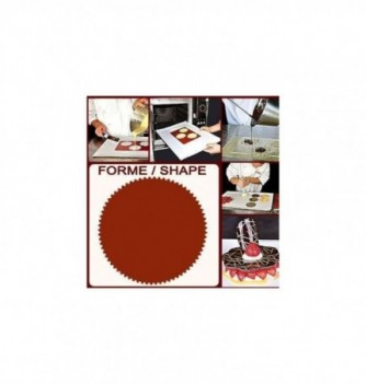 Silicone & plastic stencils 3 round-toothed 100mm