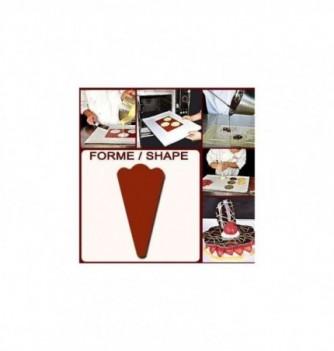 Chablon Pâtisserie Kit Dessert Triangle Fleur