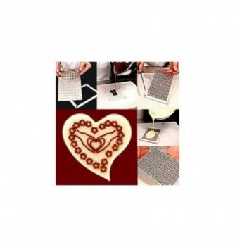 Plastic mold peace heart diam45mm 6pcs
