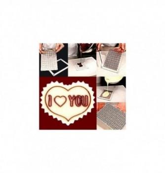 Moule Chocolat pour Décoration Coeur I Love You