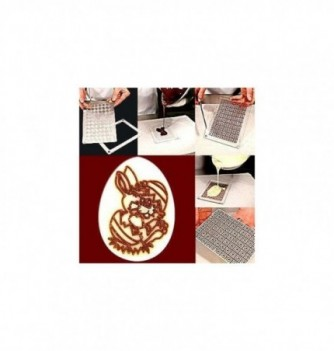Plastic mold easter rabbit 50x37mm 6pcs