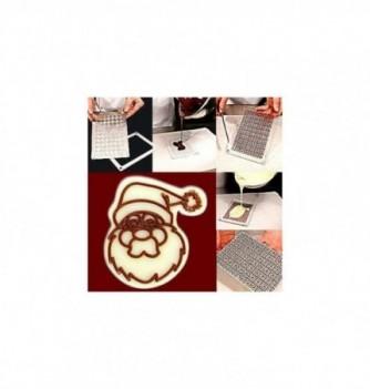 Moule Chocolat pour Décoration Tête de Père Noël