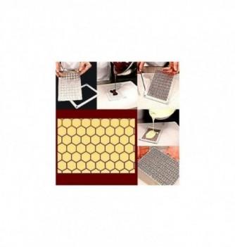 Plastic mold hexagones 165x115mm 1pc