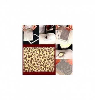 Moule Chocolat pour Décoration Plaque Etoiles