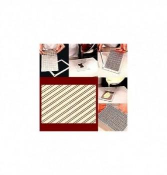 Moule Chocolat pour Décoration Plaque Rayures Diagonales