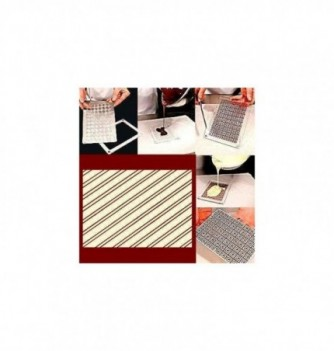 Plastic mold diagonal lines 165x115mm 1pc