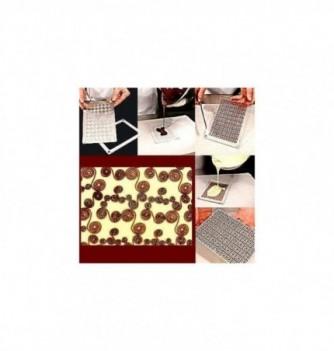 Moule Chocolat pour Décoration Plaque Abstraite
