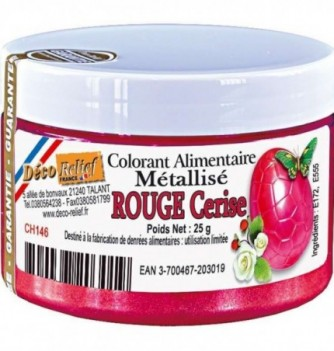 Food coloring Metallic cherry red-25g