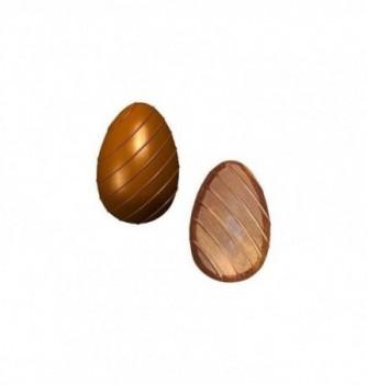Chocolate mold-streaked 96mm 4 eggs