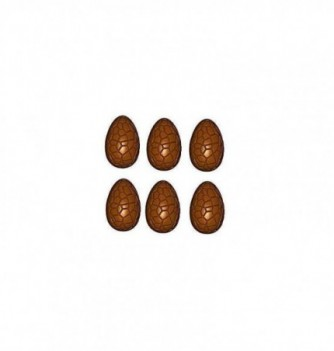 Chocolate mold cracked eggs 27-35mm