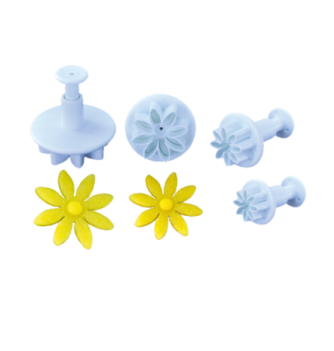Plastic cutters 4 flowers 42-34-27-22mm