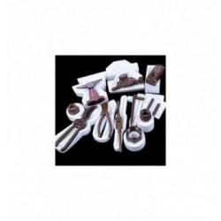 Feuille Transfert Chocolat Rayures Multiples