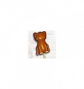 Chocolate mold lollipops 7 55x35x12-12gr dogs