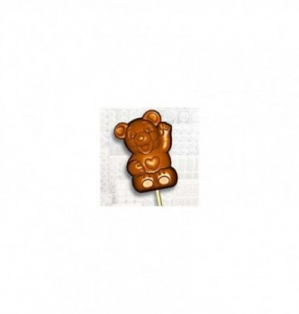 Chocolate mold lollipops 7 55x40x16-16gr Bears
