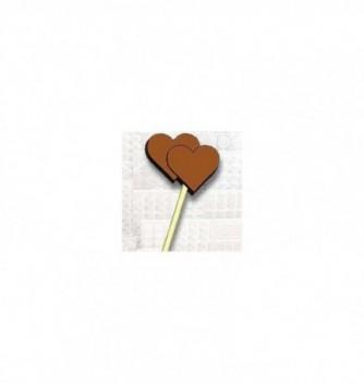 Moule Sucette Chocolat Double Coeur