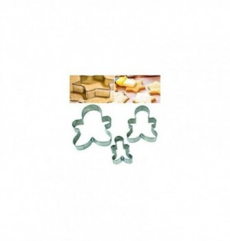 Pastry cutters 3 men 100-80-60mm