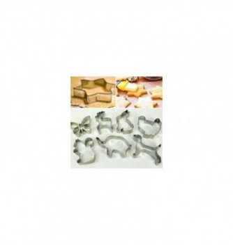 Pastry cutters 8 animals 70x70x20mm