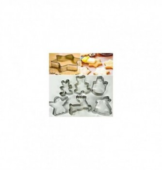 Pastry cutters 6 Christmas 120x90x25mm