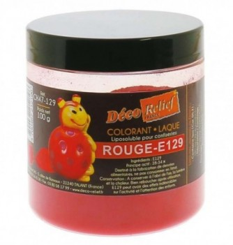 Fat Soluble Food Color - Red -E129 - 100 gr