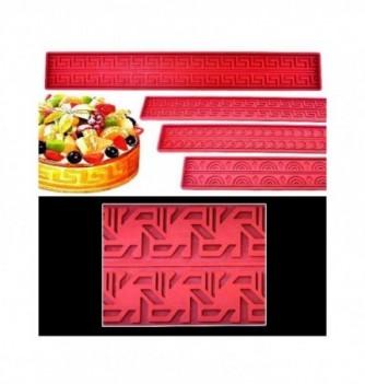 Silicone b& - Geometric pattern - 570x80mm