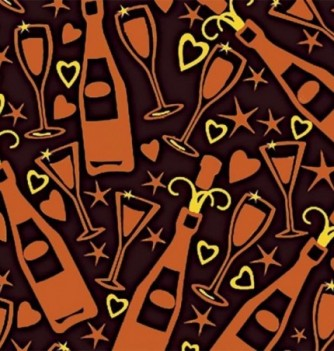 10 Chocolate transfer sheets Champagne