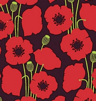 Chocolate transfer sheets x10 -Poppies - 360x250mm