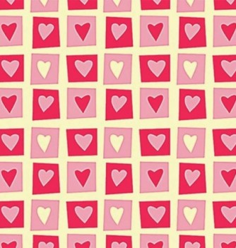 Feuille Transfert Chocolat Coeurs dans Carrés