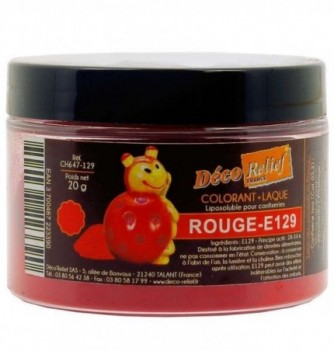Colorant Alimentaire Liposoluble Rouge Tomate Laque 20g