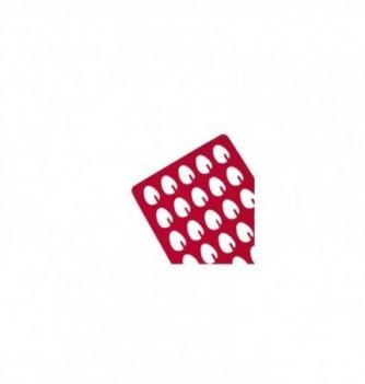 Silicone stencilx30 - Egg cut shape 35x25mm