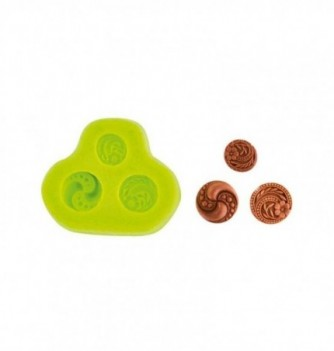 Moule Silicone Boutons en Relief