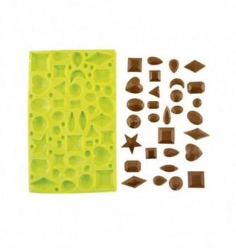 Silicone mold - Small diamonds 42 pcs 1 to 22mm