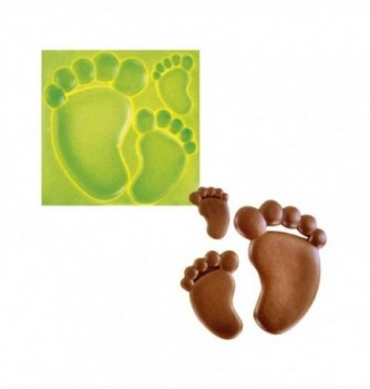 Silicone mold - Babies feet 3 pcs 23 to 108mm -