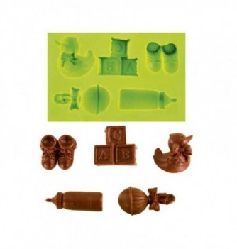 Silicone mold - Baby kit 5 pcs 9 to 25mm - 5 pcs