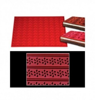 Silicone mat -Flowers-570x380mm