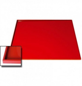 Silicone mat - Smooth-15mm edge-400x400mm