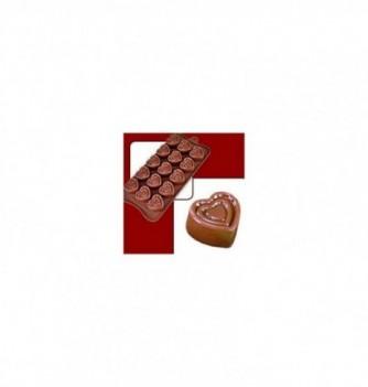 silicone mold choco decoflex Hearts 32x28x18mm - 11gr