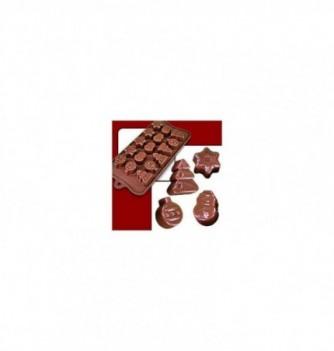 silicone mold choco decoflex Christmas 30x25x17 - 9to 10gr