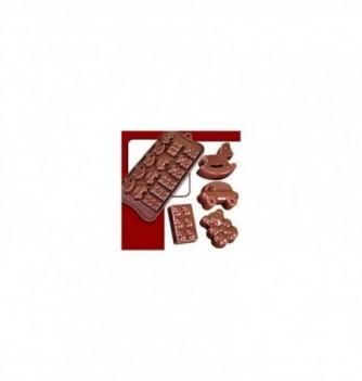 silicone mold choco decoflex Toys 35x20x10 - 10 to 11gr