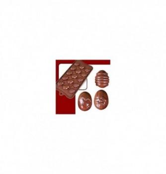 silicone mold choco decoflex Eggs 32x24x12 - 8gr