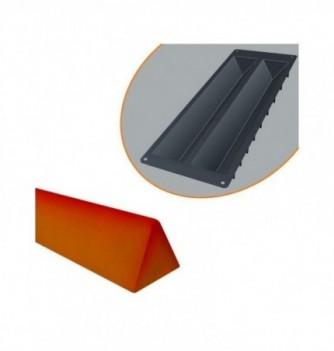 Plastic yule log mold Small triangle 510x50x35mm