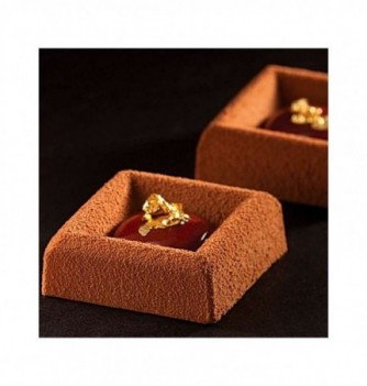 Silicone mold for cake- 77 pcs- Small Square Savarin...