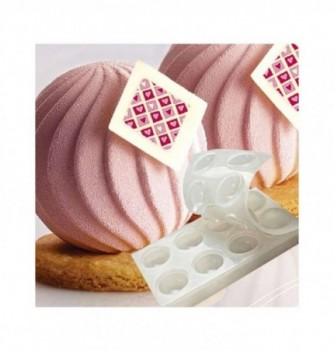 Silicone mold for spheres dessert -Spiralx8 -55mm