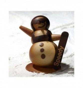 Moule Chocolat Noël Bonhomme de Neige Snowboard