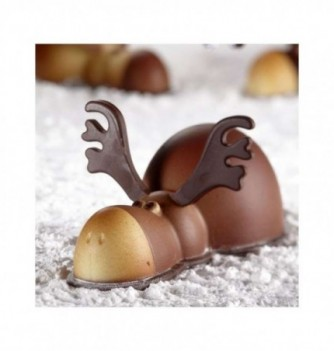 Chocolate mold - Set of 2 Elks with bases 195x195x100mm